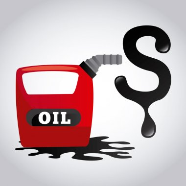 Oil prices design illustration eps10 graphic stock vector