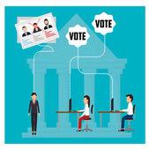 Politikus és szavazásra kampányhoz