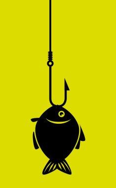Fish icon graphic design