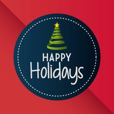 Happy holidays christmas season design, vector graphic. clip art vector