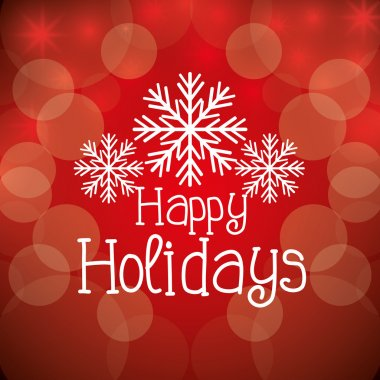 Happy holidays christmas design