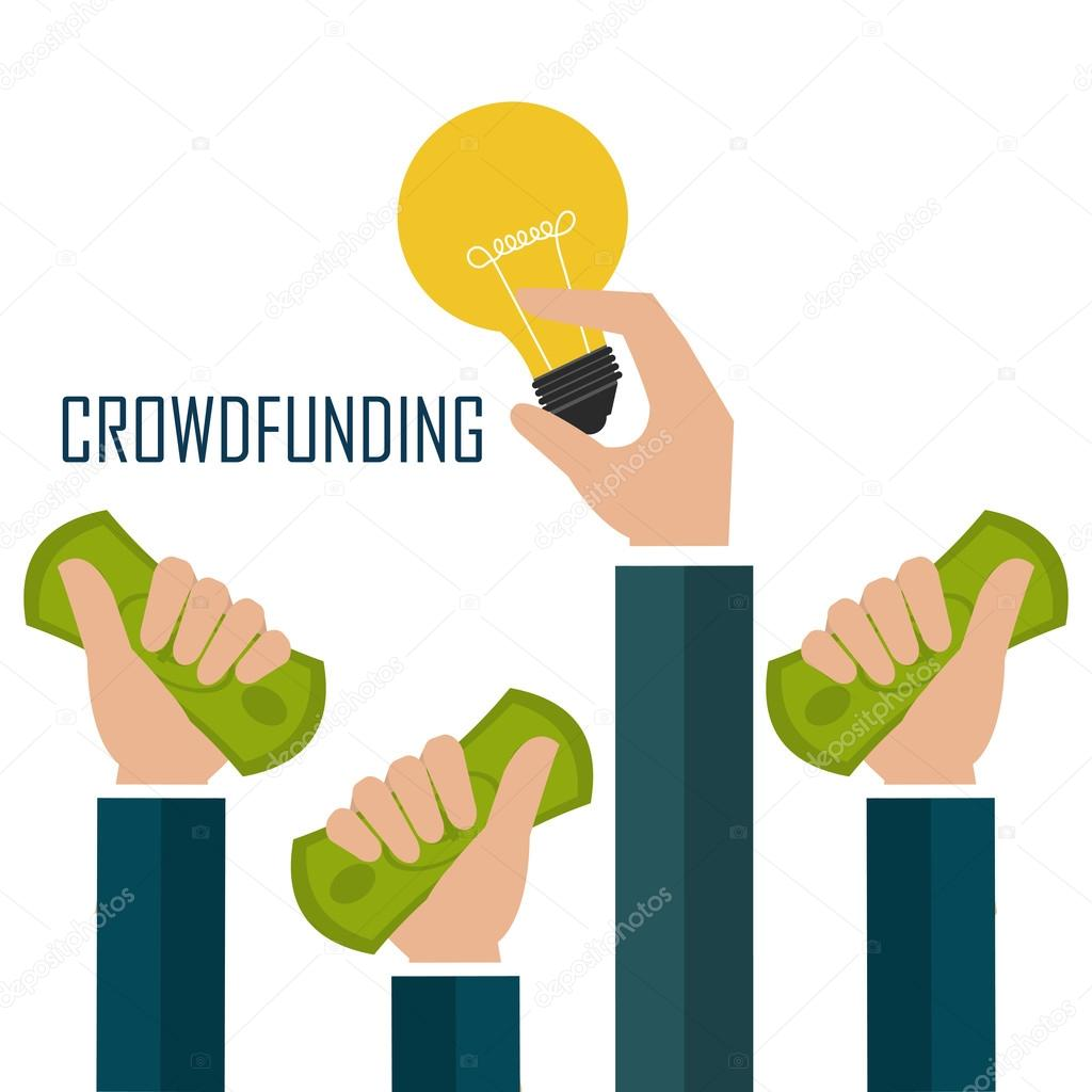crowdfunding icon design stock vector yupiramos 87535190