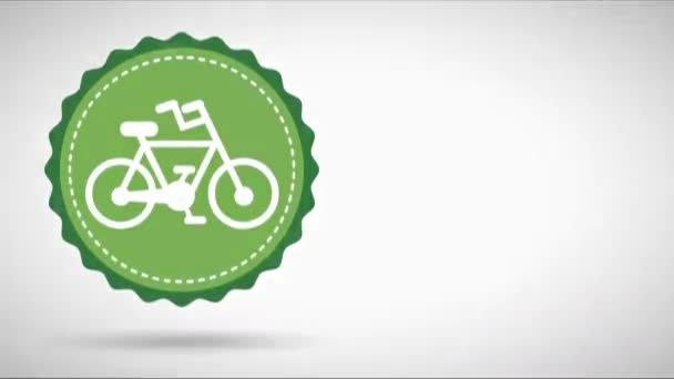 Save the Planet icon with bike