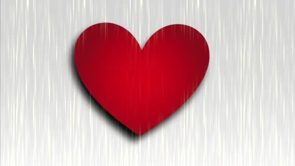 Červené srdce ikona