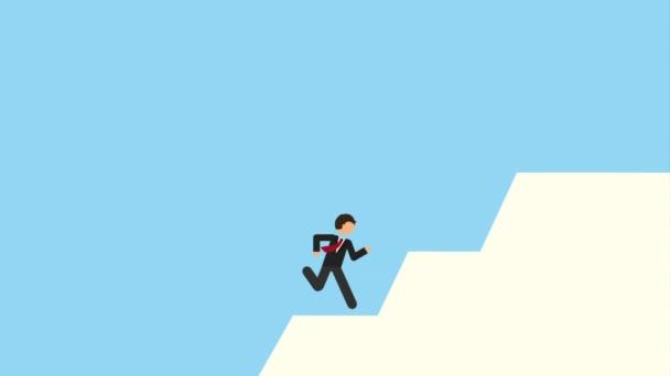 Businessman over blue background