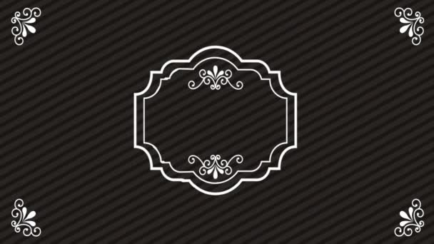 Ornament classic background, Video animation
