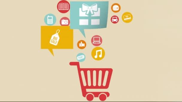 Commerce ikony designu