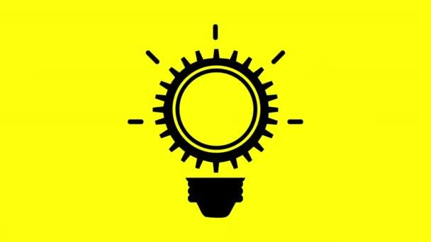 Glühbirnen-Icon-Design, Videoanimation
