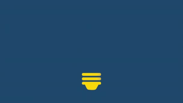 Bulb icon design, Video Animation