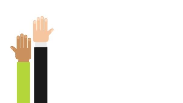 Ruce zvedl design, Video animace