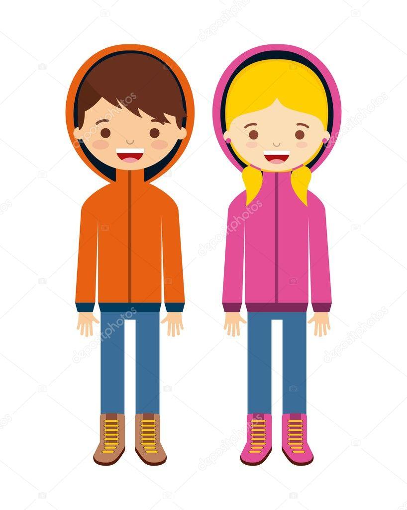 vestiti di inverno design — Vettoriali Stock © yupiramos  91984870 29dea08a568