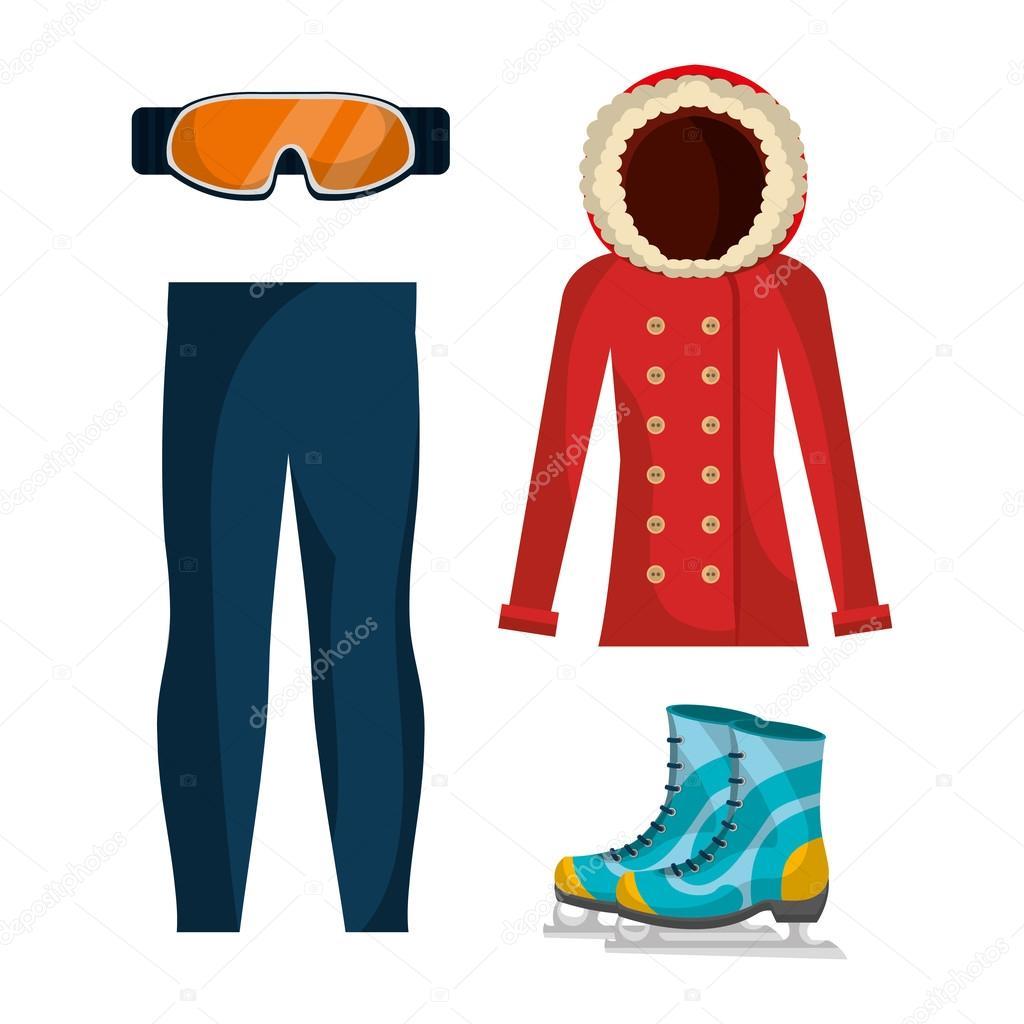 e41bd4170f9c Accessori e vestiti di moda inverno — Vettoriali Stock © yupiramos ...