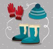 Zimní módní oblečení a doplňky