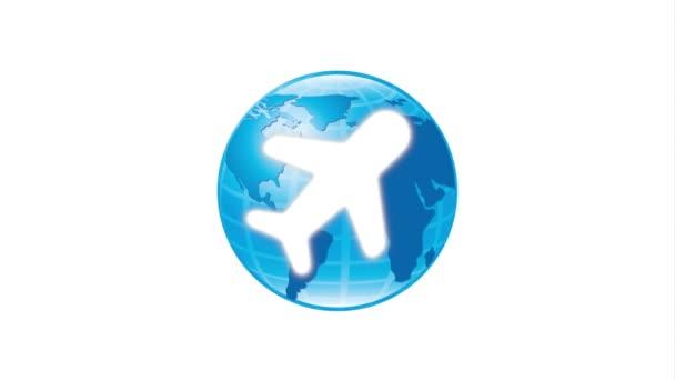 Welt und Flugzeug Icondesign