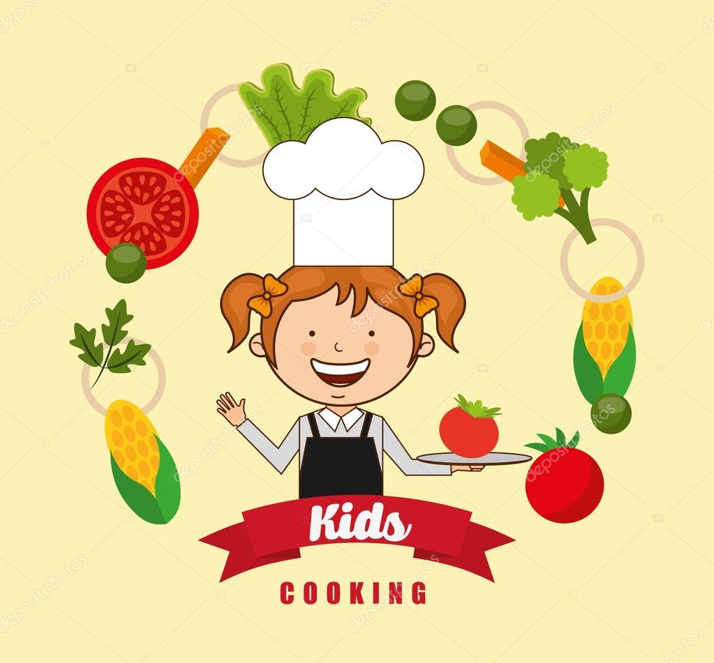 Dzieci Gotowanie Projekt Grafika Wektorowa Yupiramos 94287576