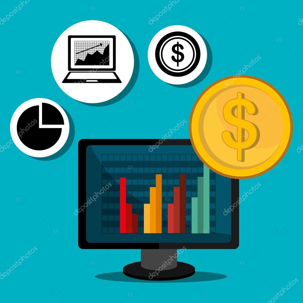 stock market and economy graphic design stock vector yupiramos
