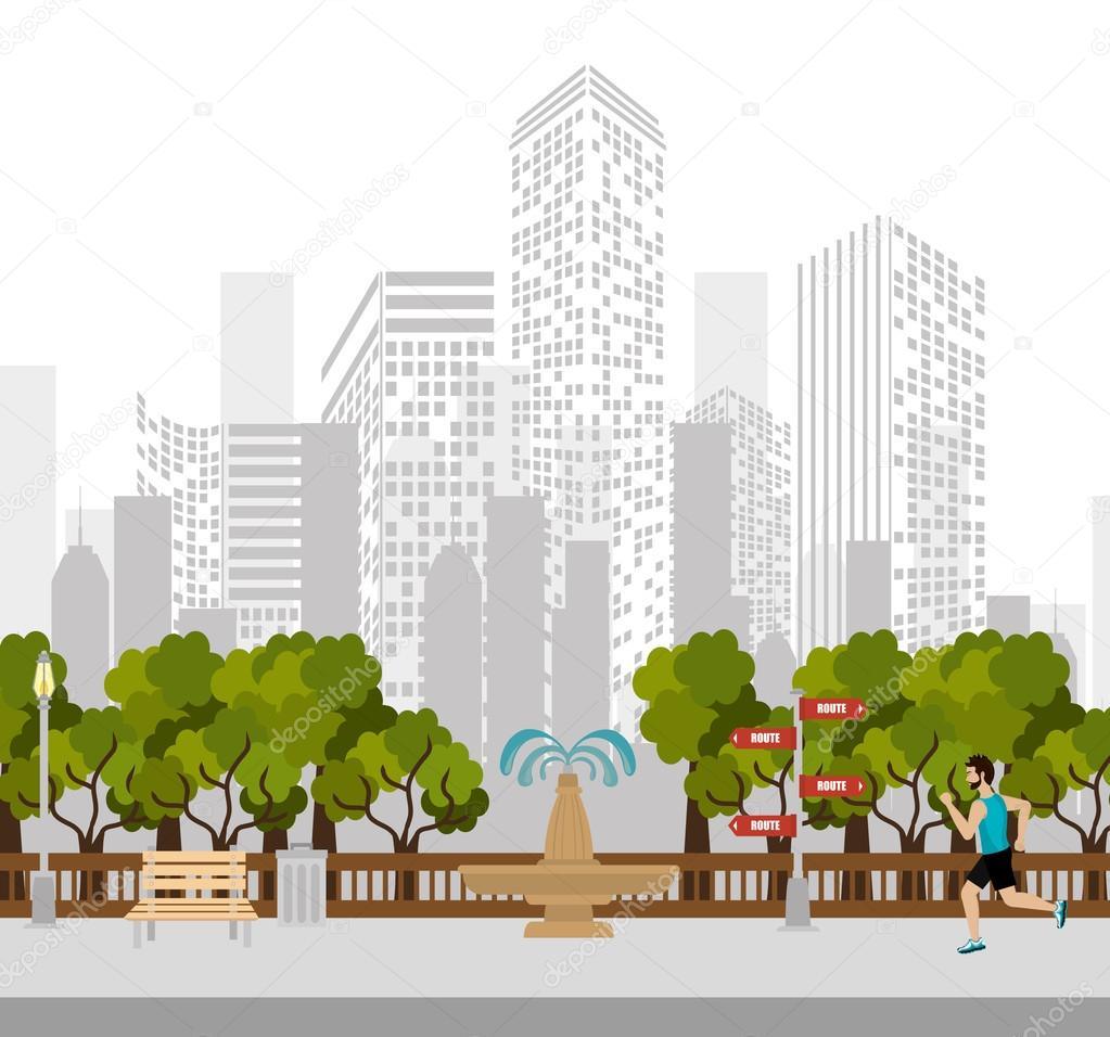 都市の建物グラフィック \u2014 ストックベクタ