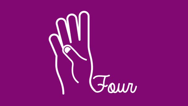 Hand-Gesten-Design und Graf