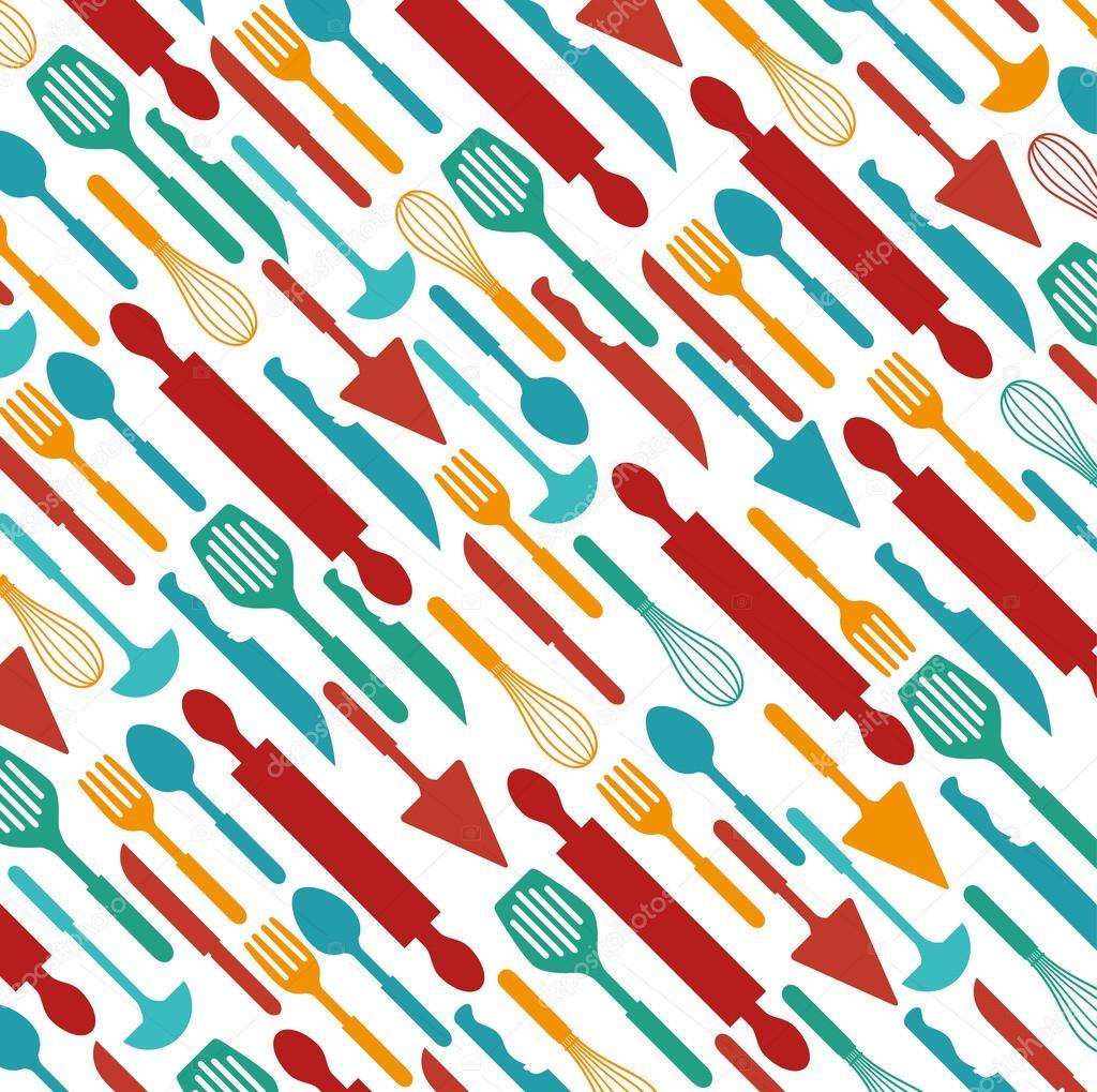 Kitchen utensils and dishware — Stock Vector © yupiramos #97965844