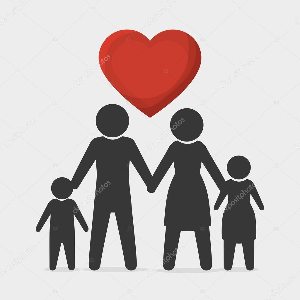 Vector Simbolos Familia Unida Gráfica De Familia Unida Vector