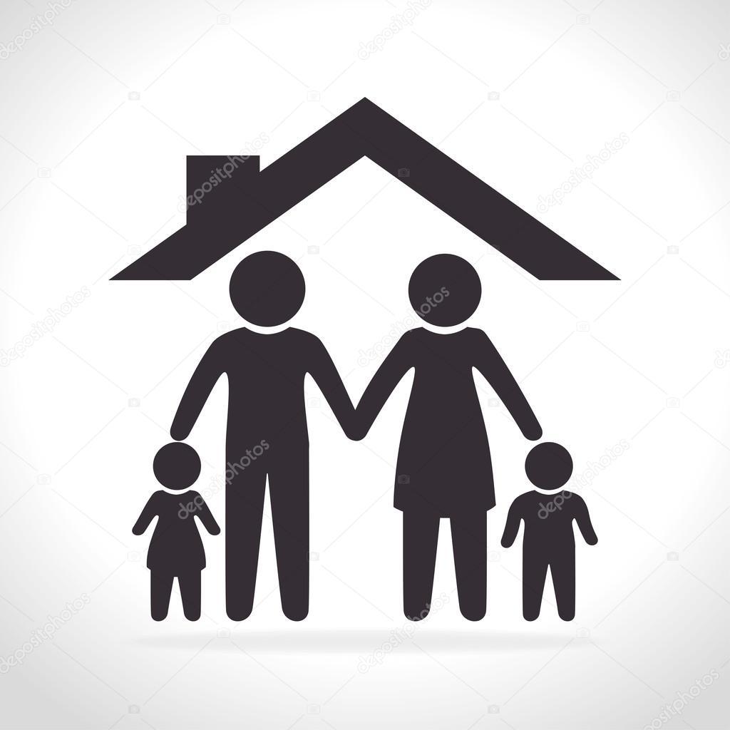 Imágenes Simbolos Familia Unida Gráfica De Familia Unida Vector