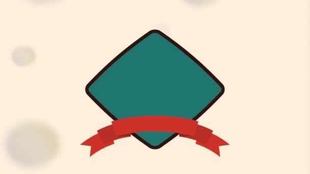 Vintage popisku ikony designu