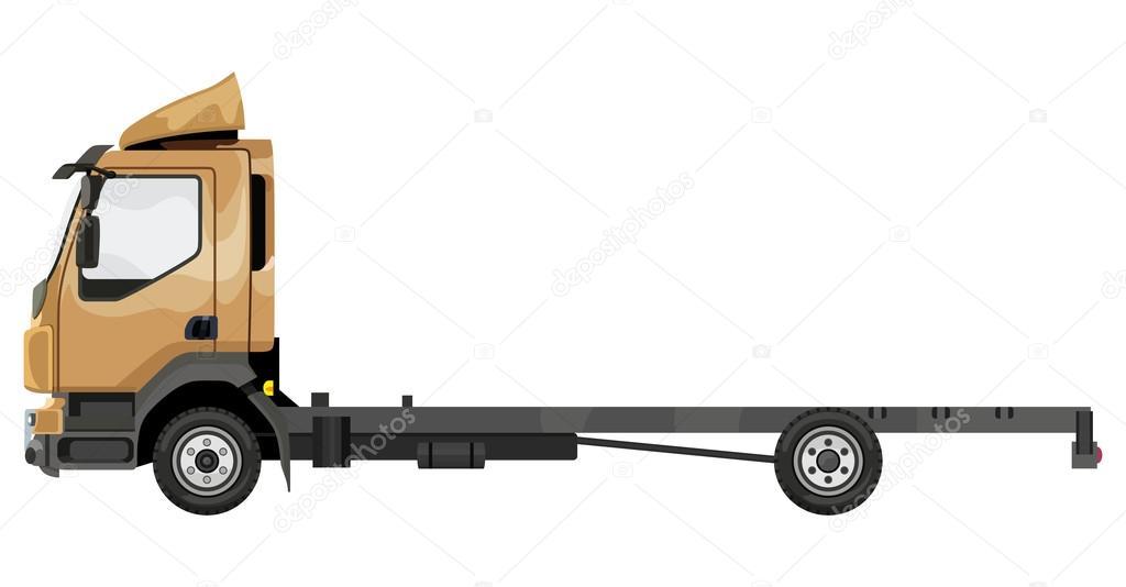 Camión amarillo sin remolque — Vector de stock © Chubarov #117648764