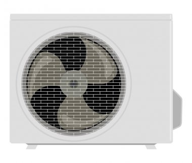 Outside the air conditioner on a white background clip art vector