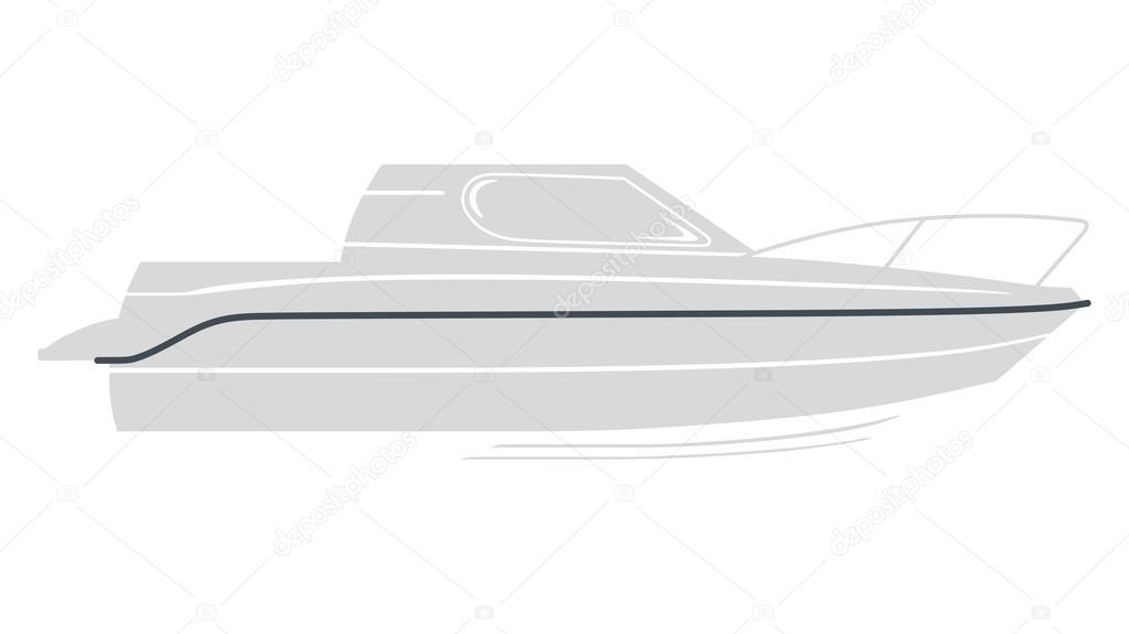 Grey logo boat