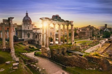 Rome city bu sunrise Italy