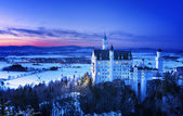 Hrad Neuschwanstein v Německu