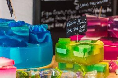 Handmade soap in a beauty shop in France