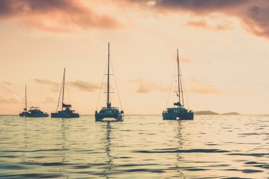 Recreational Yachts at the Indian Ocean