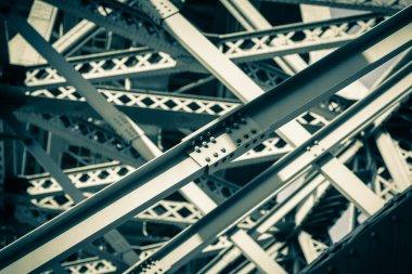 Modern Bridge frame closeup. Filtered image stock vector