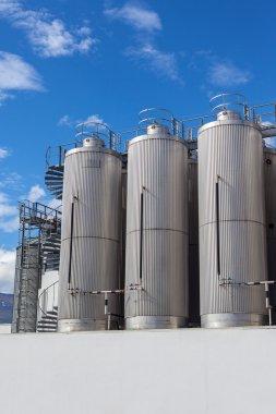 Giant industrial tanks
