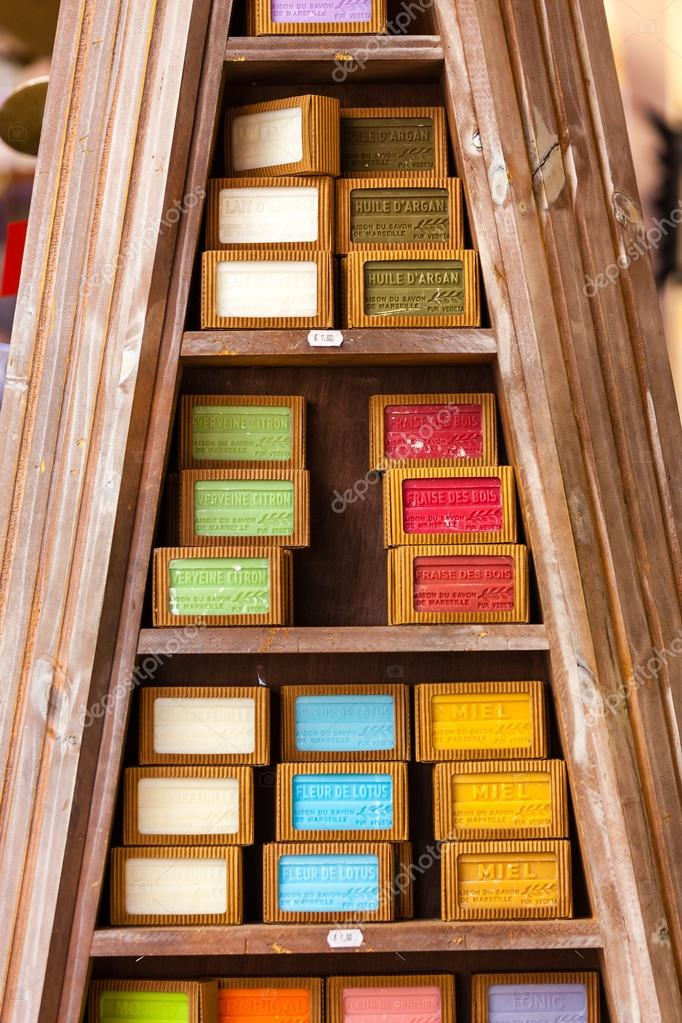 Handmade soap in a beauty shop – Stock Editorial Photo