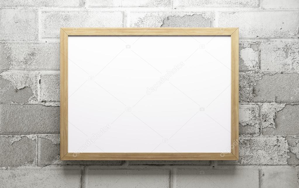 Wooden frame 3d rendering — Stock Photo © scovad #107694300