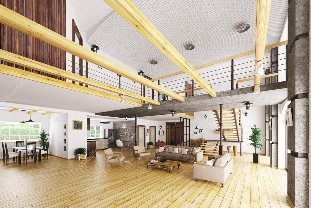 Casa moderna interno la casa dai volumi aperti oltre mq for Interno di una casa