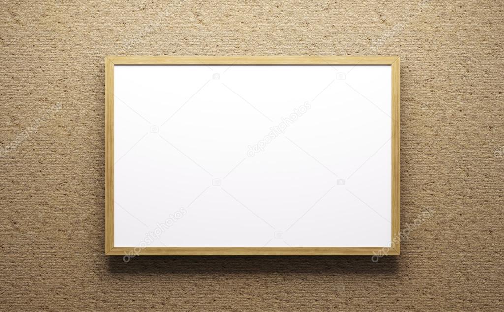 Wooden frame 3d rendering — Stock Photo © scovad #107858776