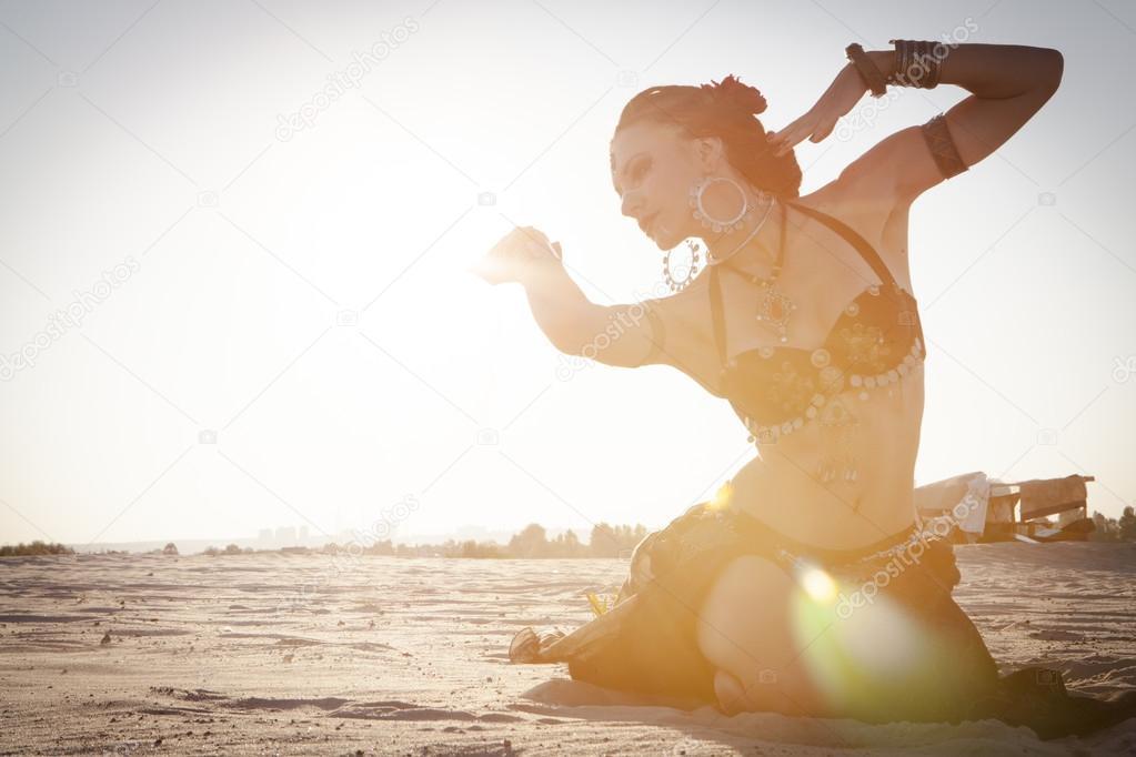 Girl dancing ethnic dances