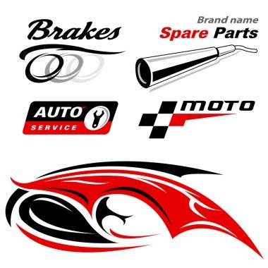 Auto moto icons