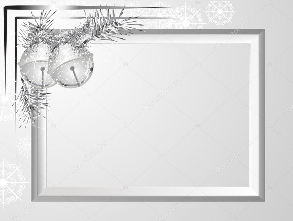 marco de Navidad plata — Vector de stock © sarininka #87022762