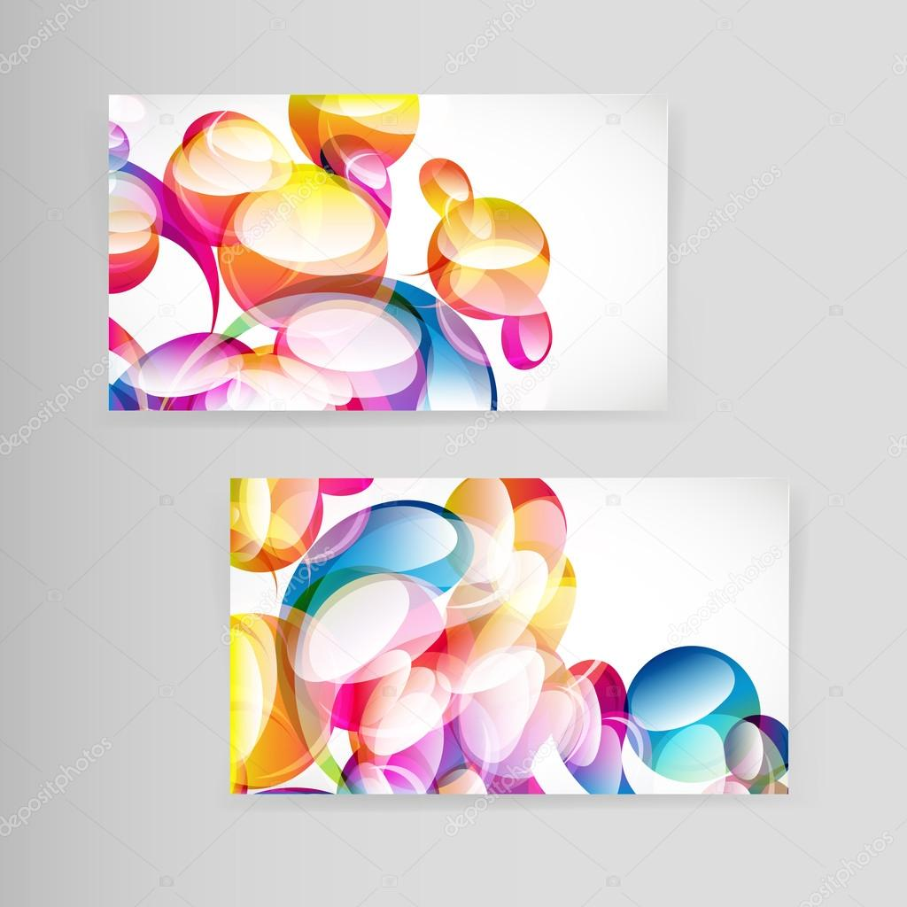 Sample business card with bright teardrop-shaped arches. — Stock ...