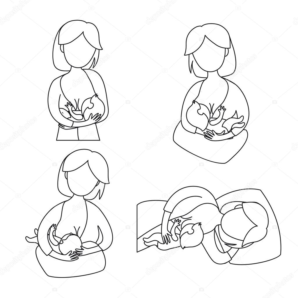 Imágenes Pecho Para Colorear Bebé De Madre De La
