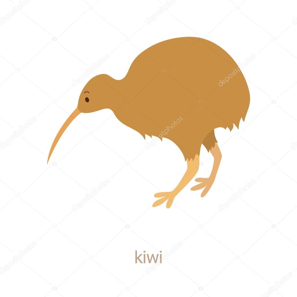 Animado Kiwi Ave Kiwi Personaje De Dibujos Animados Vector De