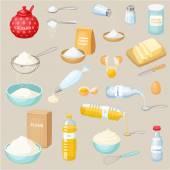 sütés összetevők készlet