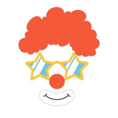 Clown props face