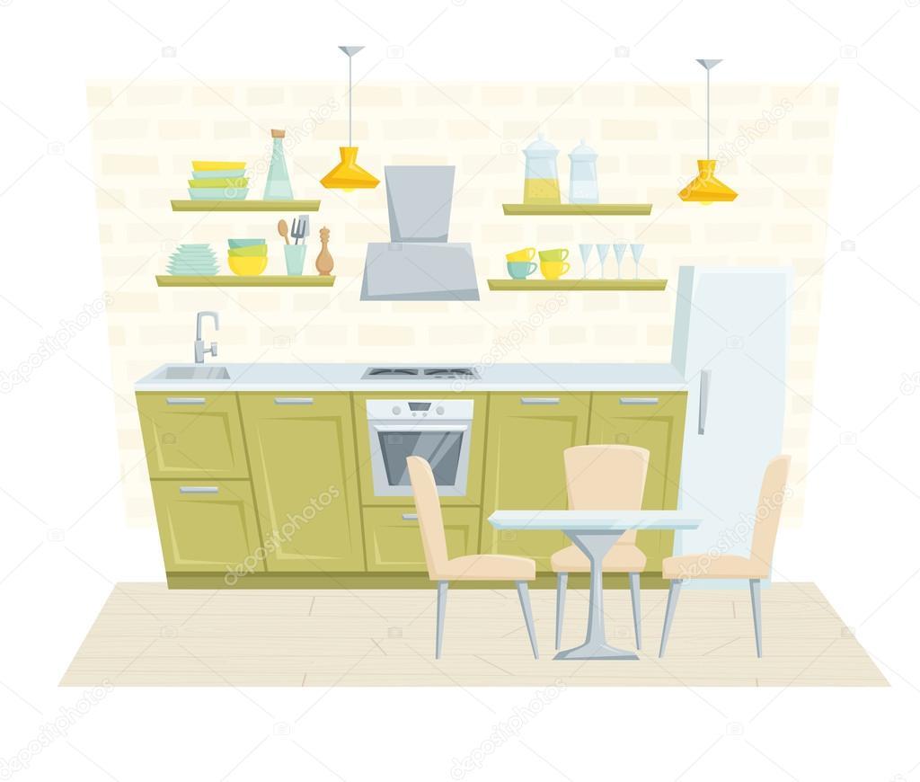 Arredamento moderno cucina vettoriali stock nordfox for Arredamento stock