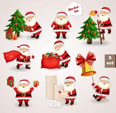 Santa Clause going to celebration Christmas