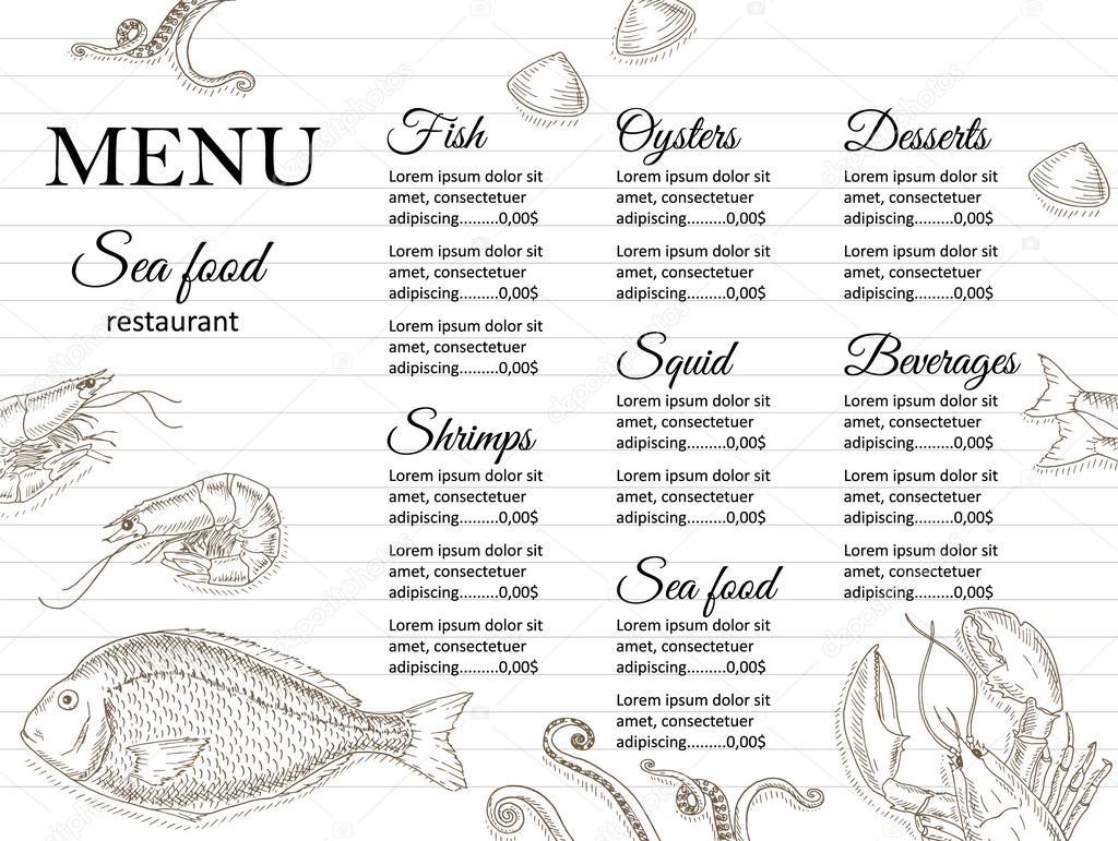Restaurant menu design — Stock Vector © nordfox #98696058